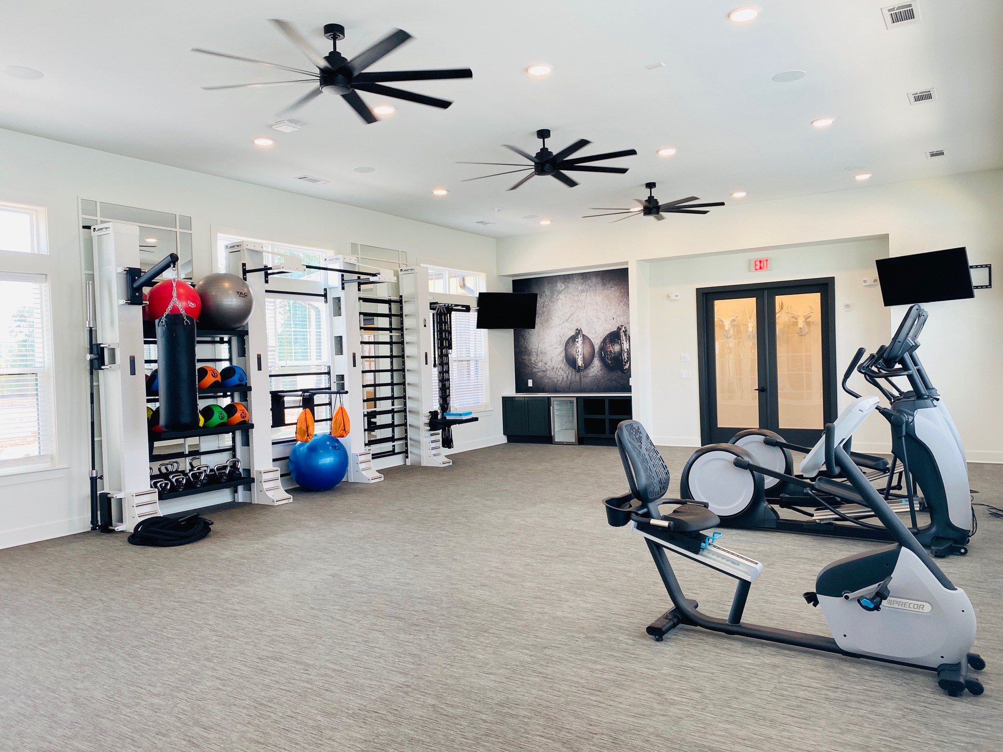 Image of our fitness equipment at The Yard on Mill.